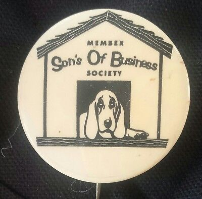 Group Of Old Political Pin Pinback Button John Kennedy S.o.b. Member Dog House