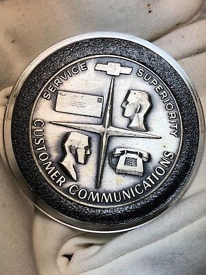 Chevy dealer sterling silver award coin service supremacy customer communication