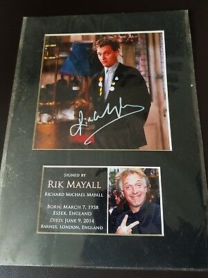 Rik Mayall - Autographed Photo tribute. Contains certificate of Authenticity