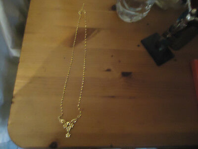 22CT GOLD PLATED NECKLACE 18inch chain