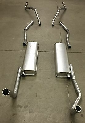 1956 Cadillac Coupe Deville Dual Exhaust System, Aluminized, Without Resonators