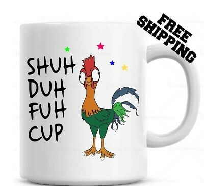 Shuh Duh Fuh Cup Funny Chicken Mug  Gift for coworkers or office present