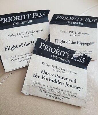 universal Studios Hollywood Harry Potter Priority passes