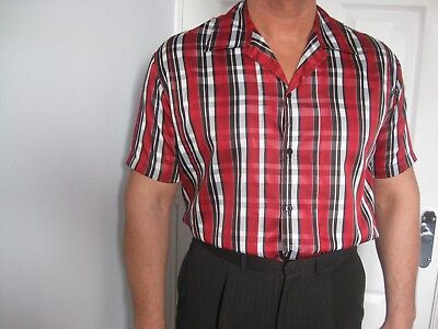 1950's Vintage Style Short Sleeved Shirt Chest 44 inches