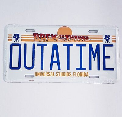Universal Studios Florida BACK TO THE FUTURE OUTATIME License Plate Sealed