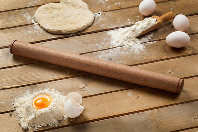 Pasta Walnut Rolling Pin, Solid Wood Design, Measures 50 cm. or 19.7 in. by Gour