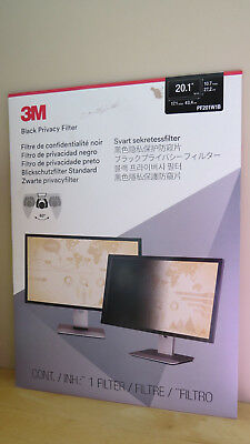 3M Pf201W1B Black Privacy Filter 20.1 Widescreen Filter