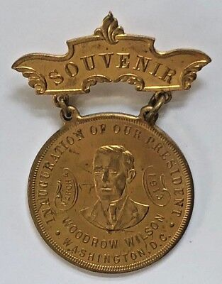 Woodrow Wilson Inaugural Political Advertising Campaign Badge.