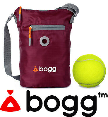bogg - Dog walkers bag. Poo bag dispenser & waste carrier | roll Purple Bramble