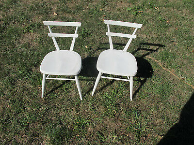 Pair of 1950's Vintage Ercol Stacking Childs Chairs Primary School