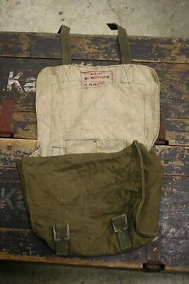 WOODEN TOGGLE Belt Bag ORIGINAL 1941 DATED Militaria WW2