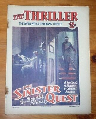 THE THRILLER No 245 Vol 9 14TH OCT 1933 A SINISTER QUEST BY DONALD STUART