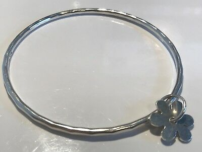 Solid Silver Bangle Stunning Not Scrap Lot 625