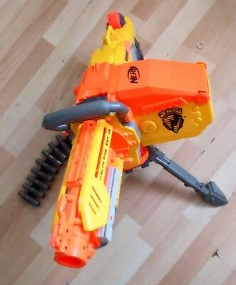 Nerf Havok Fire Ebf-25 Gun,bullets,stand