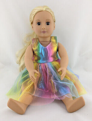 My First Baby Annabell Pink Yellow Green Doll Clothes Dresses Dress Set