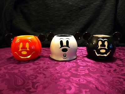 Disney Parks Mickey Halloween Candle Trio