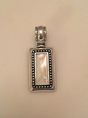 Premier Designs Summit Pendant Slide Antiqued Silver Plated Mother Of Pearl