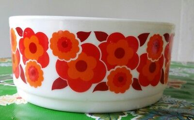 Plat Saladier Vintage Collection ARCOPAL FRANCE Modèle LOTUS Orange & Rouge