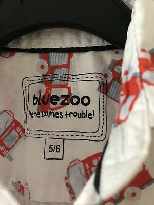 Bluezoo Boys Short Sleeved Shirt Debenhams 5-6 Years Boys