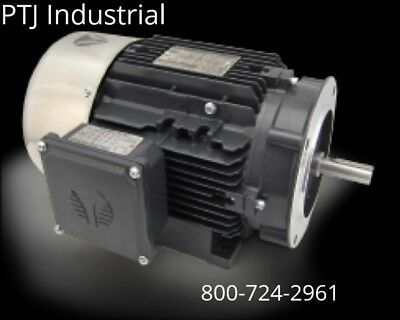 CEM AC Motor 3//4HP 1800RPM 56C Inverter Rated Removable Feet 3Phase TEFC