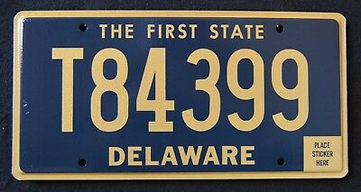 "DELAWARE "" THE FIRST STATE - TRAILER - T84399  "" MINT  DE License Plate"
