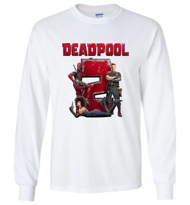 Marvel Deadpool 2 T Shirt Super Duper American Movie Men Long Sleeve T-Shirt