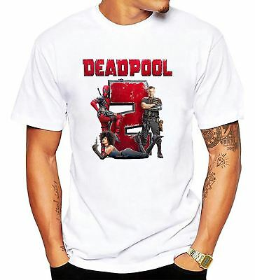 Marvel Deadpool 2 T Shirt Super Duper American Comic Fiction Movie Men T-Shirt