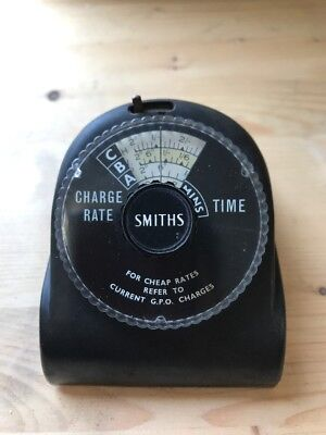 Gpo Call Rate Time Charge - Smiths - Working - Bakelite Timer - P305