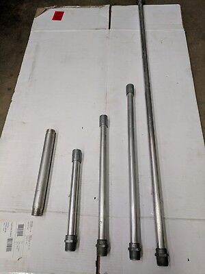 "LOT OF 7 - 1"" male npt x 48"" x 3/4 fnpt IACO Irrigation Aluminum risers."