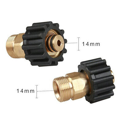 M22 14mm Brass High Pressure Washer Hose Outlet Adaptor Hose Extension Joint AM5