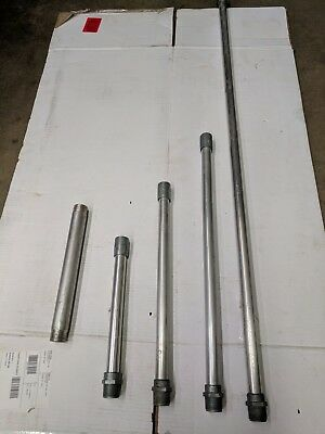 "1"" male npt x 18"" x 3/4 fnpt IACO Irrigation Aluminum risers with Zamak ends"