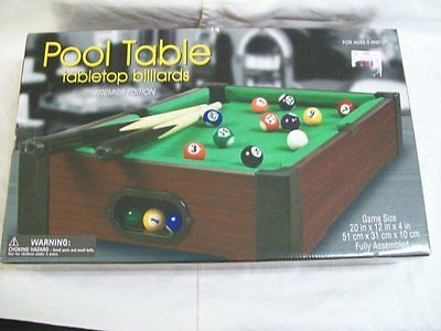 POOL TABLE TABLETOP BILLIARDS PREMIER EDITION