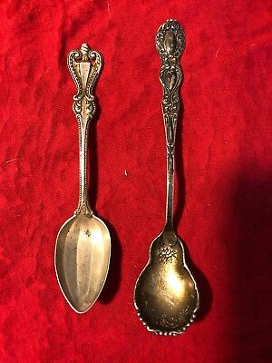 Lot! Antique Towle Sterling Silver Fluted TeaSpoon/Floral BM Olive 39.9 Grams!