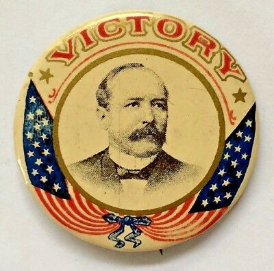 Alton B. Parker 1904 Victory Political Campaign Advertising Pin-Back Button.