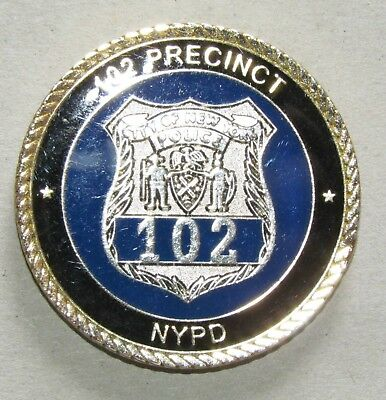 New York Police 102 Precinct Patrol Borough Queens Challenge Coin OLD NYPD