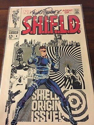 Nick Fury, Agent of SHIELD #4 *signed* by Jim Steranko