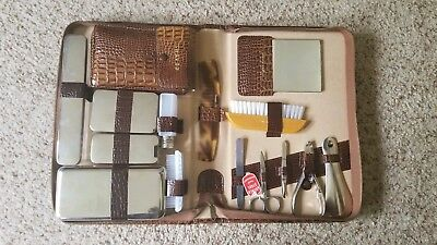 Vintage Leather German-made 15-piece Men's Grooming Kit