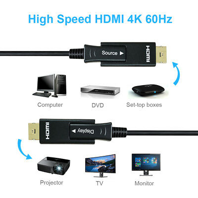200ft Ultra HIGH SPEED HDMI 18Gb Fiber Optic//Hybrid Cable 4Kx2K//60Hz