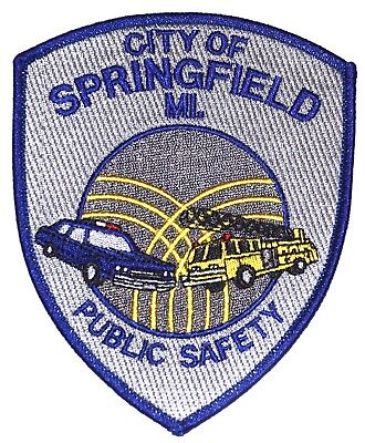 SPRINGFIELD – PUBLIC SAFETY - MICHIGAN MI Police Patch POLICE CAR FIRE TRUCK ~