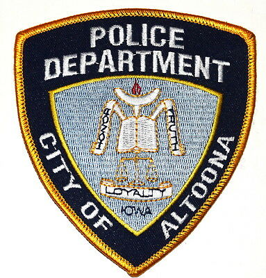 ALTOONA IOWA IA Police Sheriff Patch LOGO SCALE BOOK ~