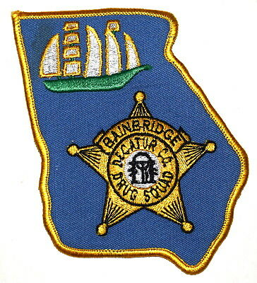 BAINBRIDGE – DRUG SQUAD - GEORGIA GA Police Sheriff Patch – STATE SHAPE - SEAL ~