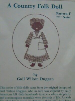 """Gail Wilson """"A Country Folk Doll"""" Pattern F--Adorable Mammy w/Rolling Pin"""