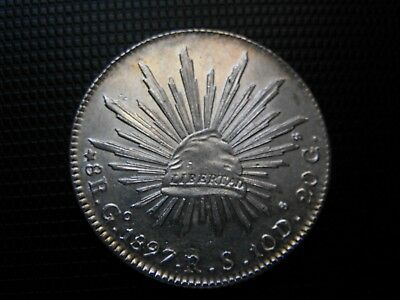 MEX; 1897 GoRS.8 Reales(Second Republic)_ Key date_ Gem.Bright Uncirculated !!!