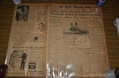 world war ii newspapers, front ages, lamenated