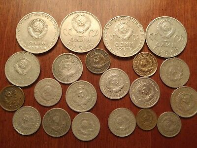 Lot of 20 USSR Soviet Russia coins