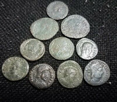 Lot of 10 Decent quality Ancient Roman coins -no junk