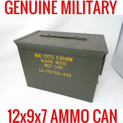 50 Cal Ammo Can Box Us Military 5.56Mm Ammunition Lithium Battery Storage 18650