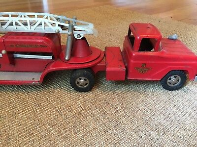 Vintage Tonka Truck USA 1960s Red Firetruck Hydraulic TFD
