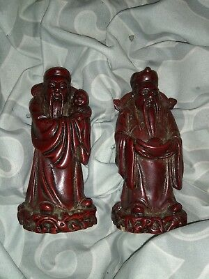 chinese statues 2  4 inch stone