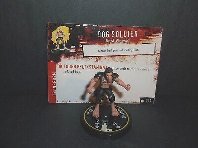 "HORRORCLIX Dog Soldier #001 Rookie -Yellow- ""NEW"" W/Cards Baes Set"